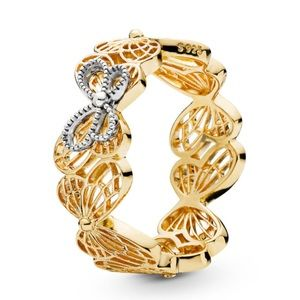 New Shine Butterfly Openwork Ring
